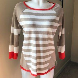 Orange, Cream & Tan Career Sweater - Medium